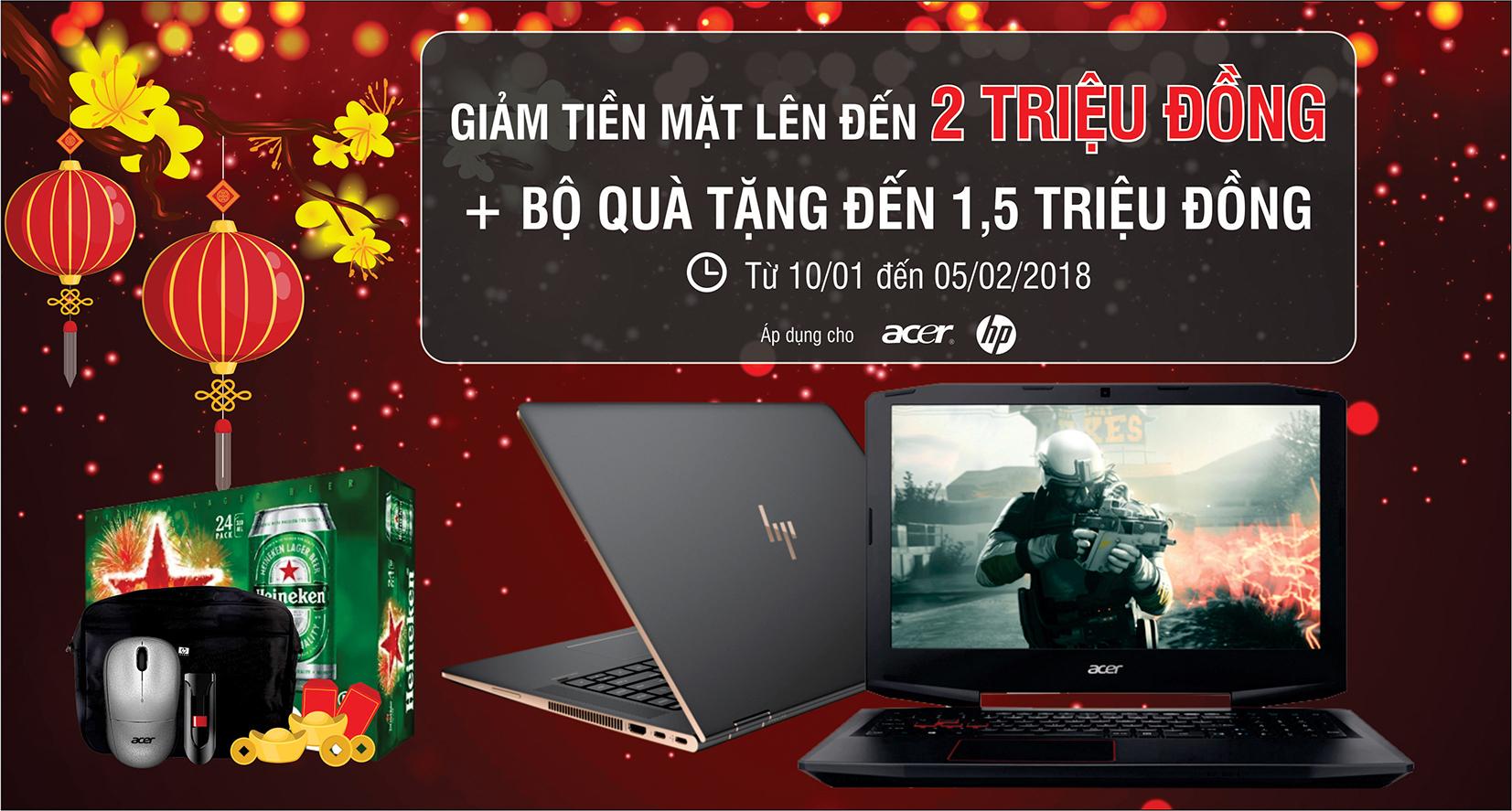 <b>Laptop</b> HP - Acer ưu đãi lớn