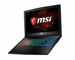 NOTEBOOK MSI GP62MVR 7RFX - 892XVN(CORE I7 7700HQ/16GB/1T + 128GB/15.6/3GB/DOS)