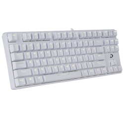 keyboard dare u dk87 white machanical led ten key less (full cơ)