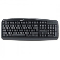 keyboard genius kb110 black usb