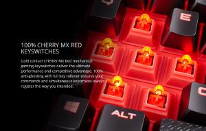 Bàn Phím Cơ Corsair K68 Mechanical Cherry MX Red -CH9102020-NA-Chống Nước