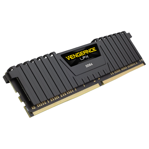 RAM DDR4 8GB/2666hz CORSAIR VENGEANCE LPX BLACK (CMK8GX4M1A2666C16)