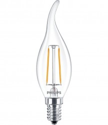 Bóng đèn philips led classic 2-25w ba35 e14 ww cl nd apr