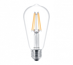 Bóng đèn philips led classic 6-70w st64 e27 ww cl nd apr